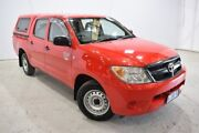 2008 Toyota Hilux TGN16R MY08 Workmate 4x2 Red 5 Speed Manual Utility Launceston Launceston Area Preview