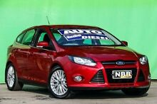 2011 Ford Focus LW Sport PwrShift Candy Red 6 Speed Sports Automatic Dual Clutch Hatchback Ringwood East Maroondah Area Preview