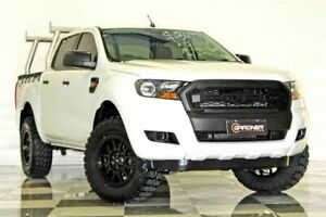 2015 Ford Ranger PX MkII XL 2.2 (4x4) White 6 Speed Automatic Crew Cab Utility Burleigh Heads Gold Coast South Preview