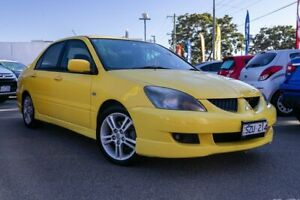 2004 Mitsubishi Lancer CH MY05 VR-X Yellow 4 Speed Sports Automatic Sedan