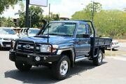 2013 Toyota Landcruiser VDJ79R MY13 GXL Blue 5 Speed Manual Cab Chassis Earlville Cairns City Preview