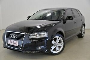 2009 Audi A3 8P MY09 TFSI Sportback S tronic Ambition Black 7 Speed Sports Automatic Dual Clutch Mansfield Brisbane South East Preview