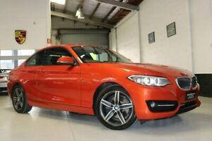 2015 BMW 2 Series F22 220i Luxury Line Orange 8 Speed Sports Automatic Coupe West Melbourne Melbourne City Preview