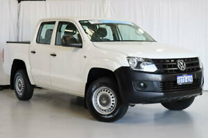 2011 Volkswagen Amarok 2H MY12 TDI340 4x2 White 6 Speed Manual Utility Wangara Wanneroo Area Preview
