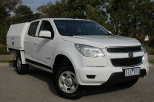 2015 Holden Colorado RG MY15 LS Crew Cab 4x2 White 6 Speed Sports Automatic Cab Chassis Officer Cardinia Area Preview