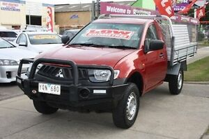 2007 Mitsubishi Triton ML MY08 GLX Burgundy 5 Speed Manual Cab Chassis Altona North Hobsons Bay Area Preview