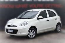 2013 Nissan Micra K13 MY13 ST White 4 Speed Automatic Hatchback Berwick Casey Area Preview