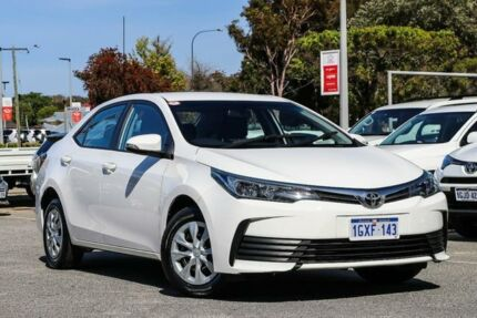2018 Toyota Corolla White Constant Variable Sedan Welshpool Canning Area Preview
