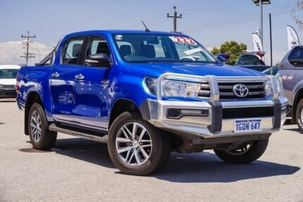 2015 Toyota Hilux GUN126R SR5 Double Cab Blue 6 Speed Sports Automatic Utility Myaree Melville Area Preview