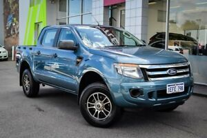 2013 Ford Ranger PX XL Double Cab Green 6 Speed Manual Utility