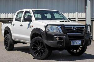 2013 Toyota Hilux KUN26R MY12 SR (4x4) White 4 Speed Automatic Dual Cab Pick-up