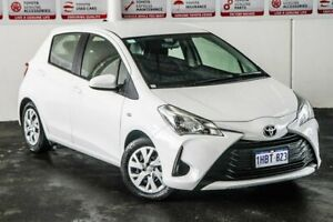 2019 Toyota Yaris NCP130R Ascent Glacier White 4 Speed Automatic Hatchback Myaree Melville Area Preview