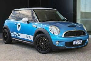 2010 Mini Hatch R56 LCI Cooper S Blue 6 Speed Manual Hatchback Wangara Wanneroo Area Preview