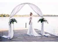 Elegant Alfred Angelo Long Sleeve Ivory Wedding Dresses 14