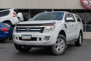2011 Ford Ranger PK XLT Crew Cab 4x2 Hi-Rider White 5 Speed Manual Utility