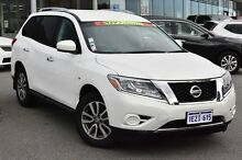 2014 Nissan Pathfinder R52 MY14 ST X-tronic 2WD White 1 Speed Constant Variable Wagon Cannington Canning Area Preview