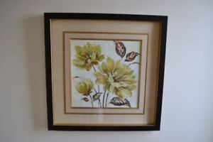 Wall Art: Large Framed Picture of Flowers (+ more home decor)
