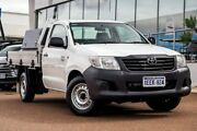 2013 Toyota Hilux TGN16R MY12 Workmate 4x2 Glacier White 5 Speed Manual Cab Chassis Wangara Wanneroo Area Preview