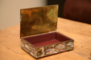 Mexican Silver Mother of Pearl boxes Peterborough Peterborough Area image 2