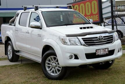 2013 Toyota Hilux KUN26R SR5 White Manual Utility Capalaba West Brisbane South East Preview