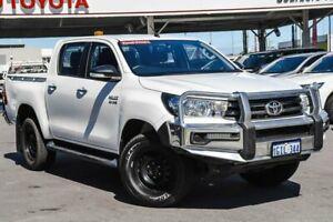 2017 Toyota Hilux GUN126R SR (4x4) Glacier White 6 Speed Automatic Dual Cab Utility