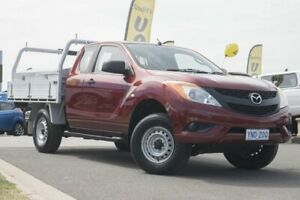 2012 Mazda BT-50 UP0YF1 XT Freestyle Red 6 Speed Manual Cab Chassis