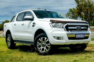 2017 Ford Ranger PX MkII XLT Double Cab White 6 Speed Sports Automatic Utility Clarkson Wanneroo Area Preview