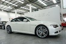 2008 BMW 650i E63 MY08 LCI UPDATE Brilliant White 6 Speed Steptronic Coupe Port Melbourne Port Phillip Preview