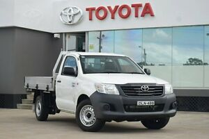 2015 Toyota Hilux TGN16R MY14 Workmate White 5 Speed Manual Cab Chassis Old Guildford Fairfield Area Preview