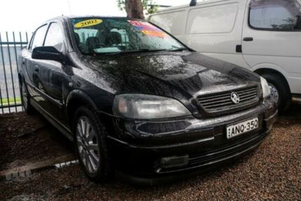 2002 Holden Astra TS MY03 CD Black 4 Speed Automatic Sedan Minchinbury Blacktown Area Preview