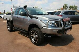2017 Mazda BT-50 UR0YG1 XT Freestyle Grey 6 Speed Manual Cab Chassis The Gardens Darwin City Preview