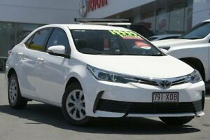 2017 Toyota Corolla ZRE172R Ascent S-CVT Glacier White 7 Speed Constant Variable Sedan Woolloongabba Brisbane South West Preview