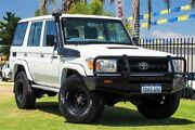2011 Toyota Landcruiser VDJ76R MY10 Workmate White 5 Speed Manual Wagon Wangara Wanneroo Area Preview