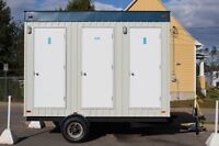 Modular autonomous restrooms trailer