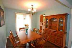 Solid maple dining room set with hutch