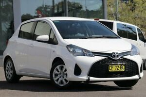 2015 Toyota Yaris NCP130R MY15 Ascent White 5 Speed Manual Hatchback Wyong Wyong Area Preview