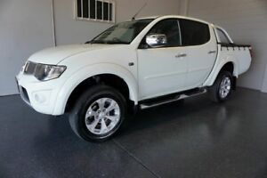 2013 Mitsubishi Triton MN MY13 GLX-R (4x4) White 5 Speed Manual 4x4 Double Cab Utility