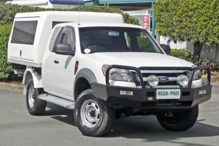 2009 Ford Ranger PK XL Super Cab White 5 Speed Manual Cab Chassis