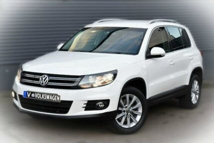 2011 Volkswagen Tiguan 5N MY12 155TSI DSG 4MOTION Candy White 7 Speed Sports Automatic Dual Clutch W Berwick Casey Area Preview