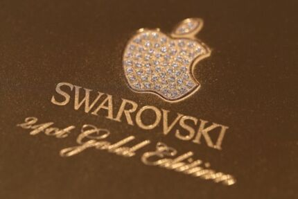 SWAROVSKI 24CT GOLD IPHONE 6 PLUS 128GB WHITE BRAND NEW IN BOX Kellyville The Hills District Preview