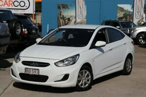 2013 Hyundai Accent RB Active White 4 Speed Sports Automatic Sedan Greenslopes Brisbane South West Preview