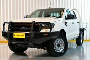 2016 Ford Ranger PX MkII XL Double Cab White 6 Speed Manual Cab Chassis