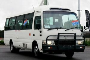 2011 Toyota Coaster XZB50R 07 Upgrade Standard (LWB) White 5 Speed Manual Bus Hillcrest Logan Area Preview