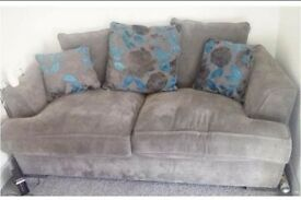 Grey and blue 3 Seater sofa