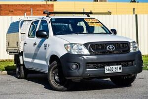 2010 Toyota Hilux TGN16R MY10 Workmate 4x2 White 5 Speed Manual Utility Gepps Cross Port Adelaide Area Preview