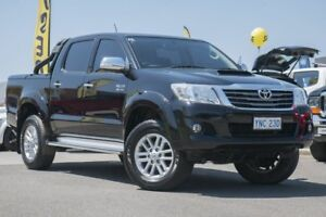 2015 Toyota Hilux KUN26R MY14 SR5 Double Cab Black 5 Speed Automatic Utility