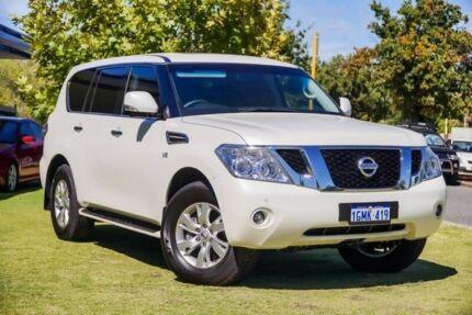 2016 Nissan Patrol Y62 Series 3 TI White 7 Speed Sports Automatic Wagon