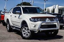 2011 Mitsubishi Triton MN MY12 GLX-R Double Cab White 5 Speed Manual Utility Parramatta Parramatta Area Preview