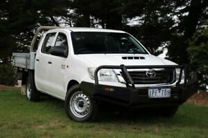 2014 Toyota Hilux KUN16R MY14 SR Double Cab 4x2 White 5 Speed Manual Utility Officer Cardinia Area Preview