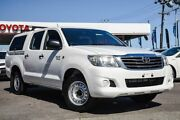 2012 Toyota Hilux GGN15R MY12 SR Double Cab 4x2 Glacier White 5 Speed Automatic Utility Osborne Park Stirling Area Preview